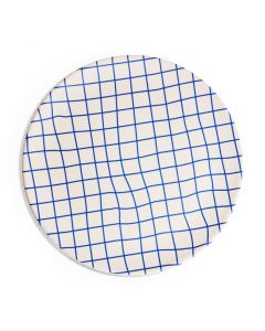 Poketo Bamboo Grid Dinner Plates - Set of 4