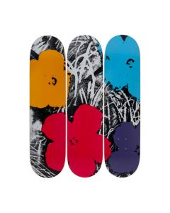 Andy Warhol Flowers Skateboards
