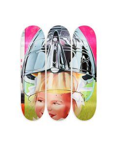 James Rosenquist F-111 Girl Skateboard Triptych