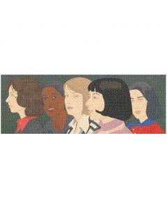 Alex Katz Five Women Panoramic Puzzle - 1000 Piece