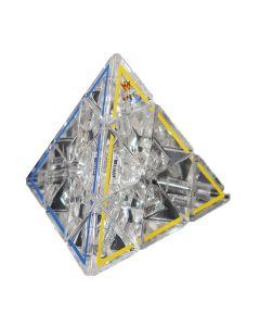 Crystal Ghost Pyraminx Puzzle