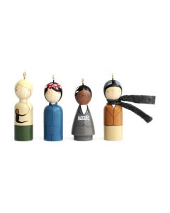 Modern Women Ornaments Set