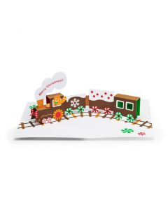 Gingerbread Train Holiday Cards - Set of 8