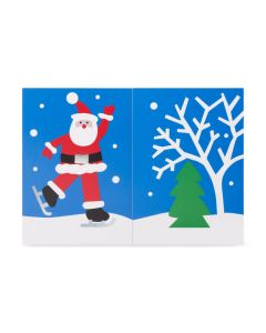 Skating Santa Holiday Cards - Set of 8