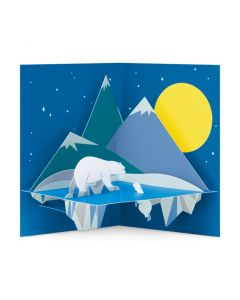 Moonlit Polar Bear Holiday Cards - Set of 8