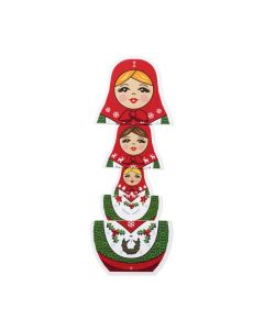 Merry Matryoshka Holiday Cards - Set of 8