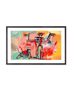Basquiat: Boy and Dog in a Johnnypump Framed Print