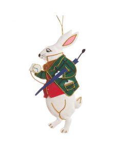 St. Nicolas Alice in Wonderland Rabbit Holiday Ornament