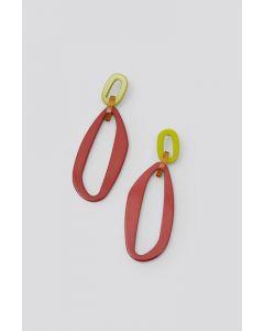 Rachel Comey Red Multi Leo Earrings