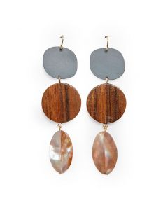Sophie Monet Pod Feather Earrings - Active