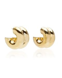 Uncommon Matters Bollow Gold-Tone Vermeil Earrings