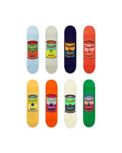 Andy Warhol: Skateboard Colored Campbell's Soup Cans Set of 8