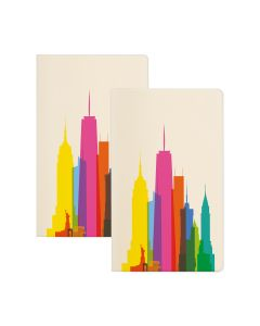 NYC Rainbow City Shapes Notebook Set