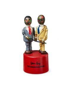 Gilbert & George Singing Sculpture Wooden Toy
