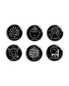 Herstory Of Art Buttons