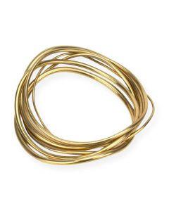 Soko Wavy Brass Stack Bangles