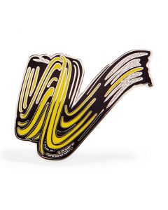 Roy Lichtenstein: Brushstroke Enamel Pin