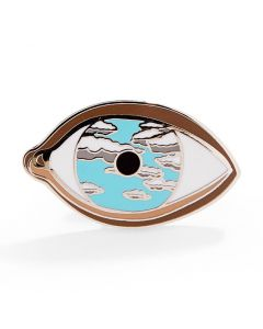 René Magritte: False Mirror Enamel Pin