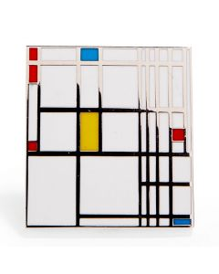 Piet Mondrian: Composition in Red Blue and Yellow Enamel Pin