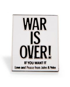 Yoko Ono and John Lennon: War is Over! Enamel Pin