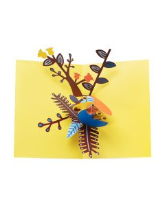 Playful Leaves Pop-Up Note Cards - Set Of 6
