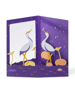 Peaceful Cranes Pop-Up Note Cards - Set Of 6