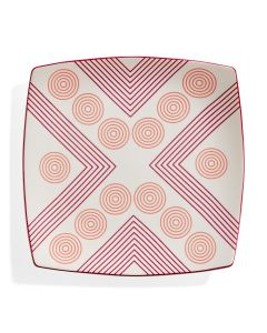 Marguerita Mergentime Arrows and Circles Ceramic Plate
